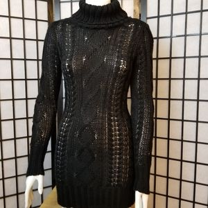 Lady Dutch knitted turtle neck sweater dress